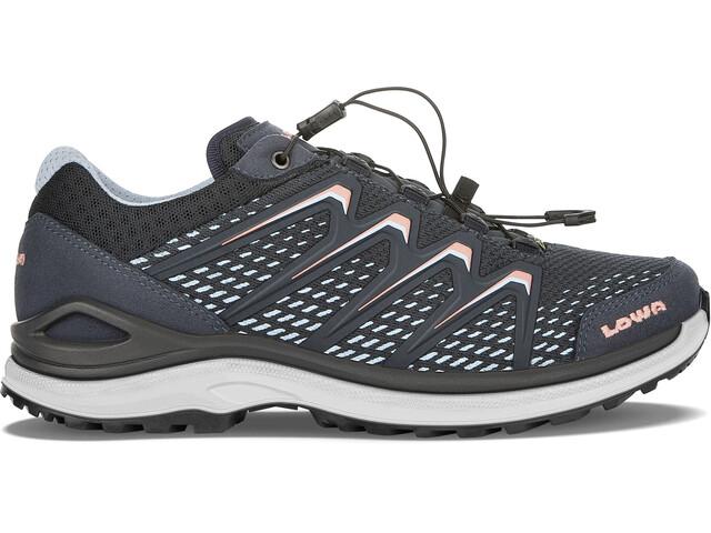 Lowa Maddox GTX Low Shoes Women steel blue/salmon
